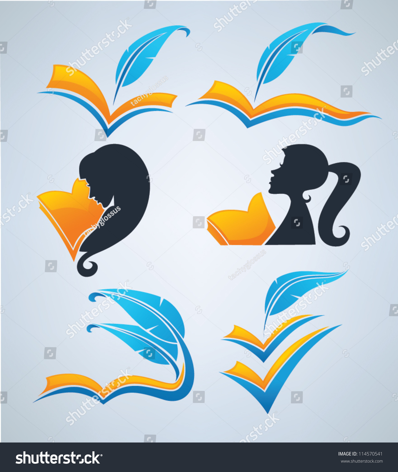 a symbol in literature literature reading writing poetry vector collection stock vector
