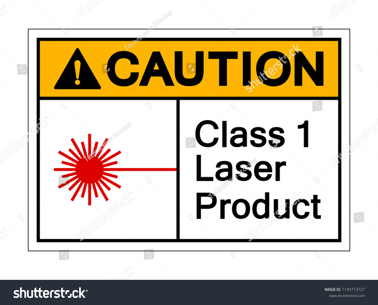 Caution Class 1 Laser Product Symbol Stock Vector Royalty Free