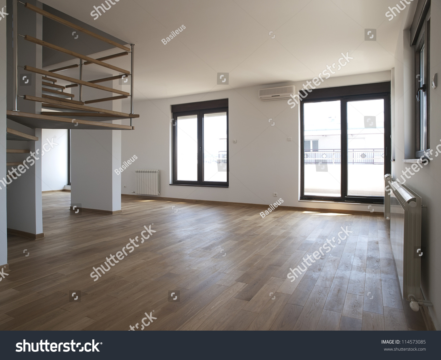 Modern large empty living room stock photo 114573085 for Big empty living rooms
