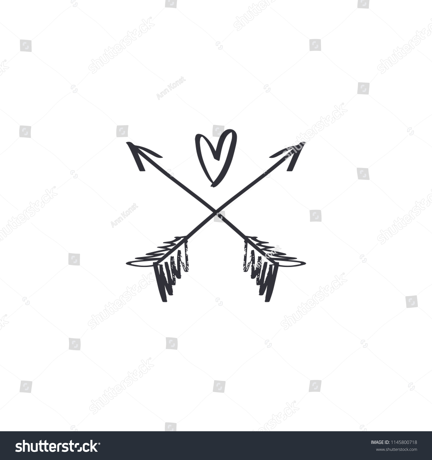 hand lettered boho label love concept stock vector (royalty free