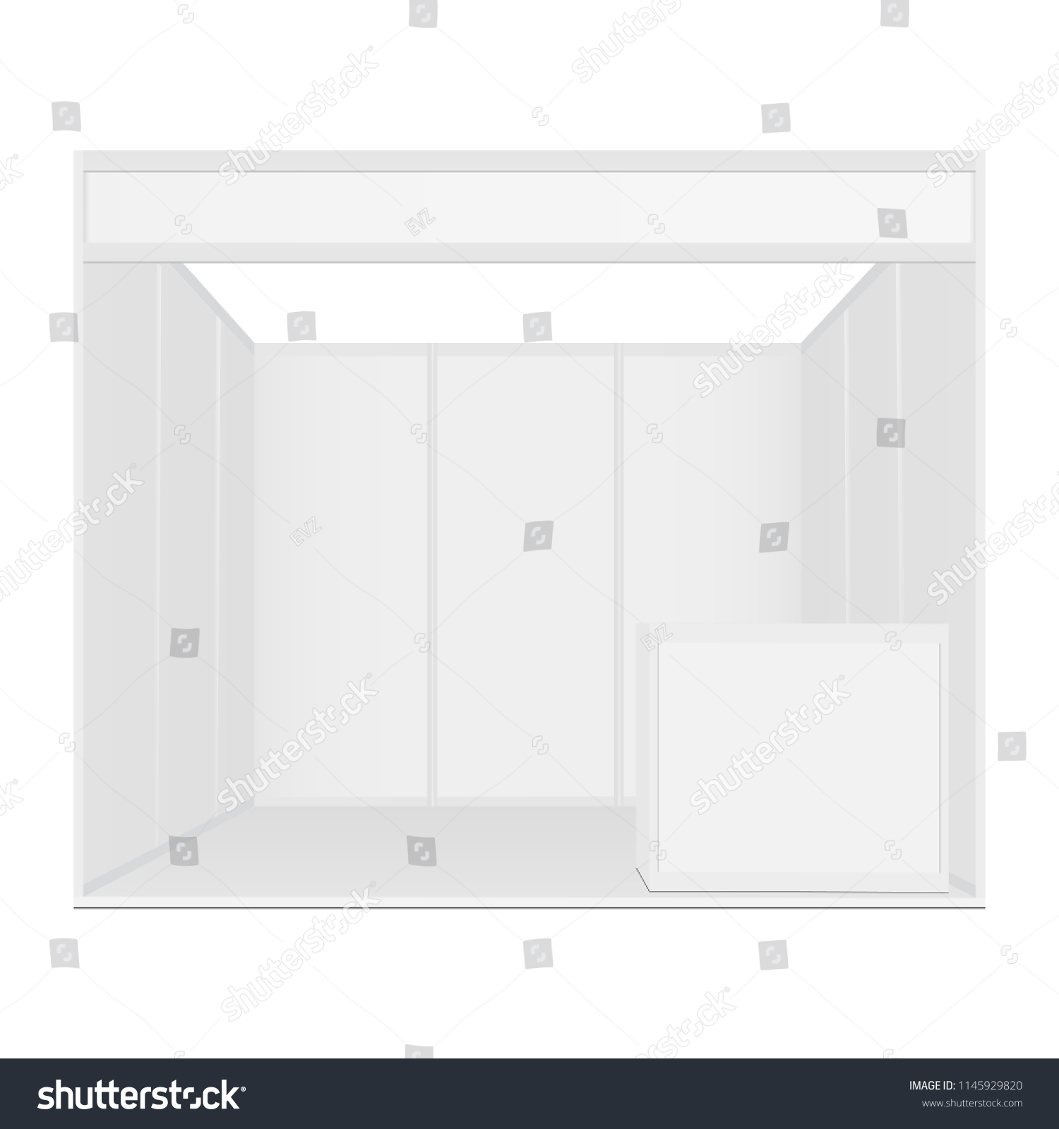 Exhibition Booth Mockup : Exhibition booth mockup table front view stock vector royalty