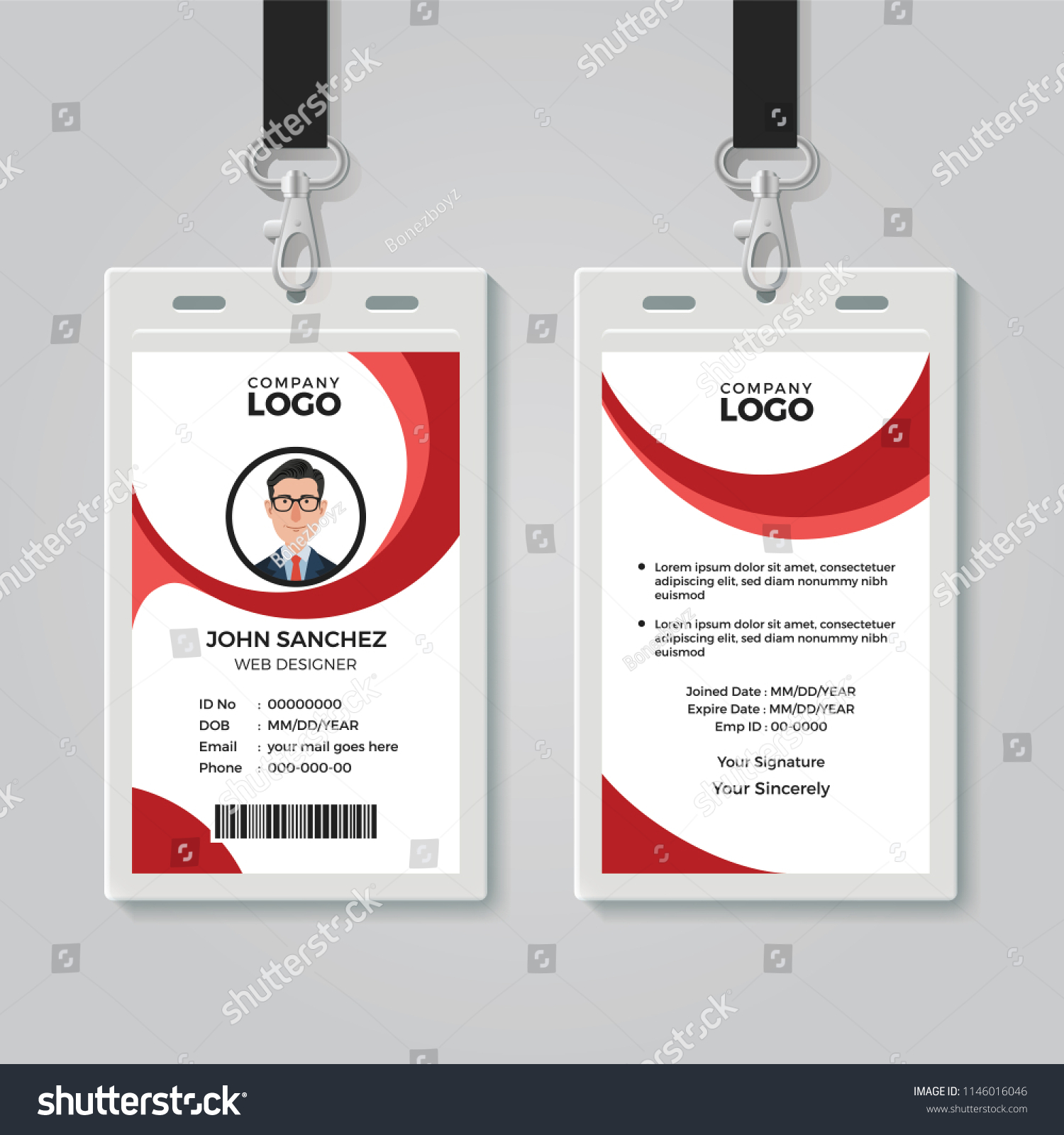 Creative Office Identity Card Template Stock Vector (Royalty Free ...