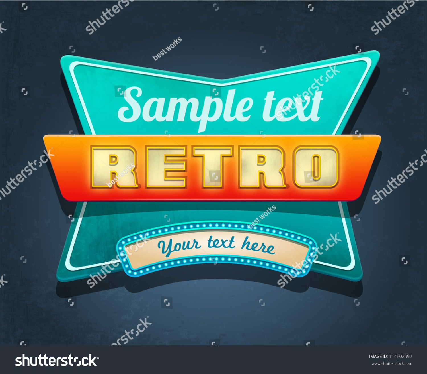 Royalty-free Retro motel sign. Vector #114602992 Stock ...