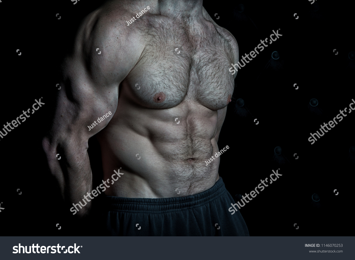 Preparing Muscles Actions Torso Six Packs Stock Photo Edit Now