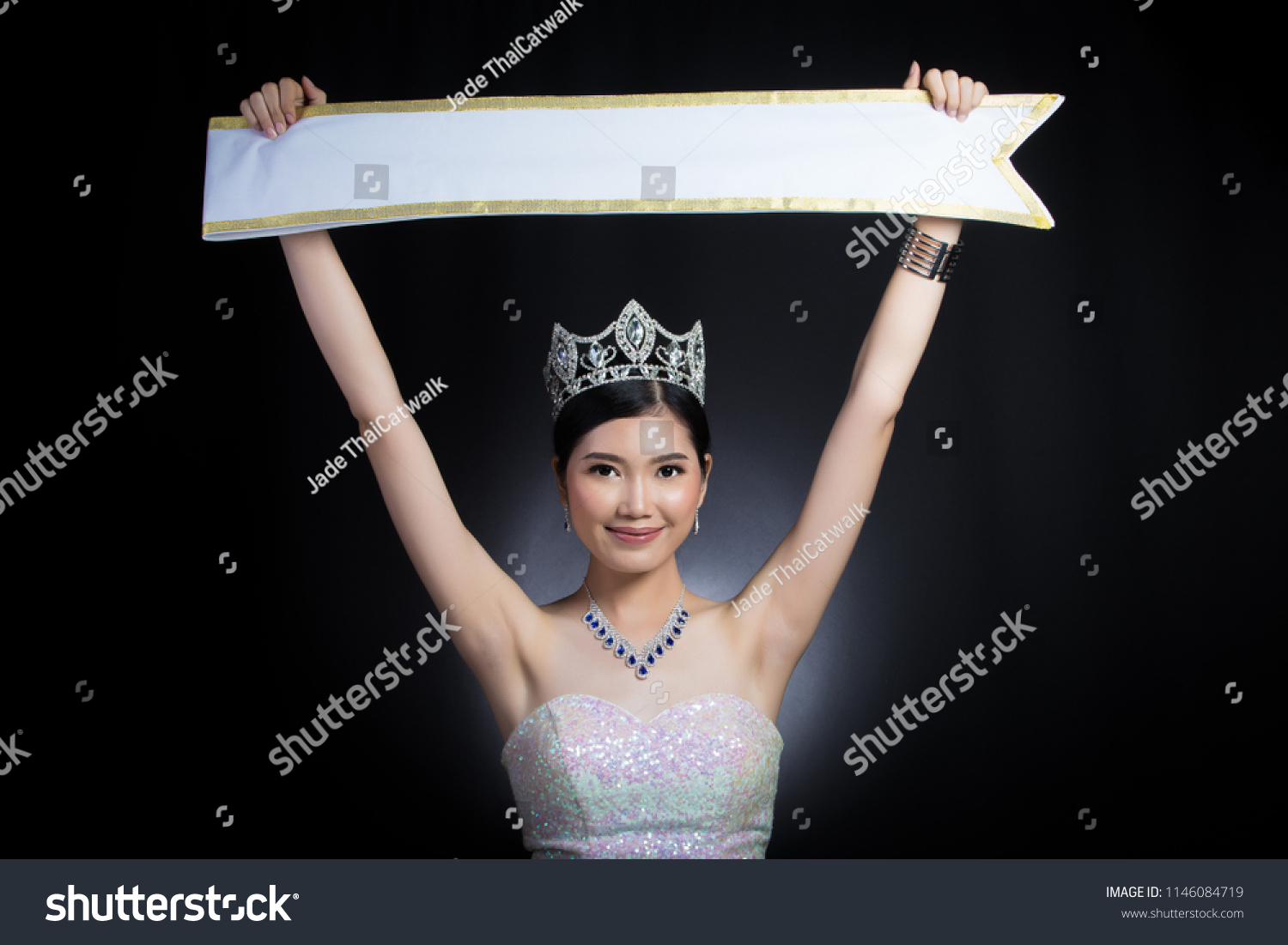 Portrait Miss Pageant Beauty Contest Sequin Stock Photo Edit Now