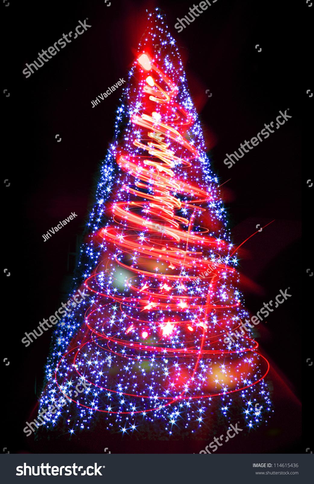 xmas tree as very nice christmas background from color lights - Nice Christmas Trees