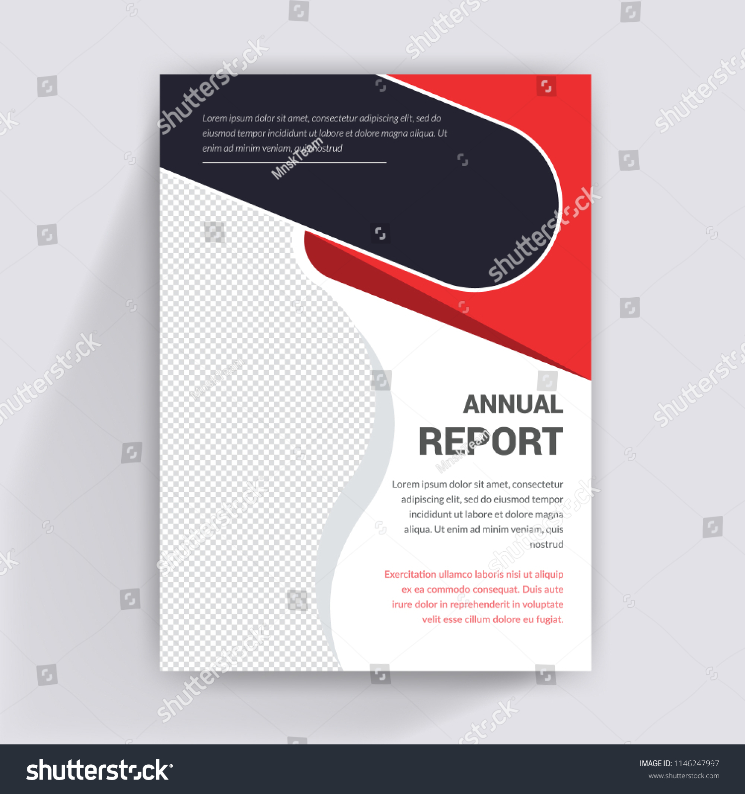 flyer design annual report cover booklet stock vector royalty free