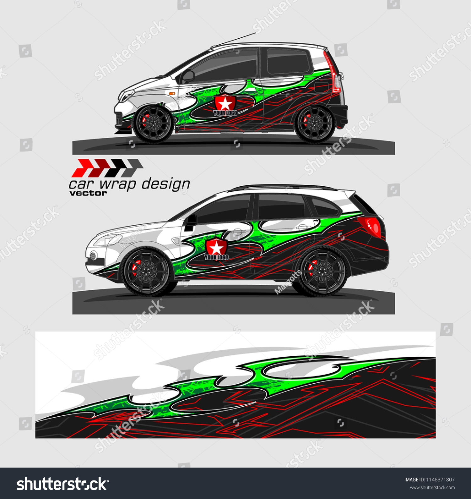 Car Livery Graphic Vector Abstract Racing Stock Vector