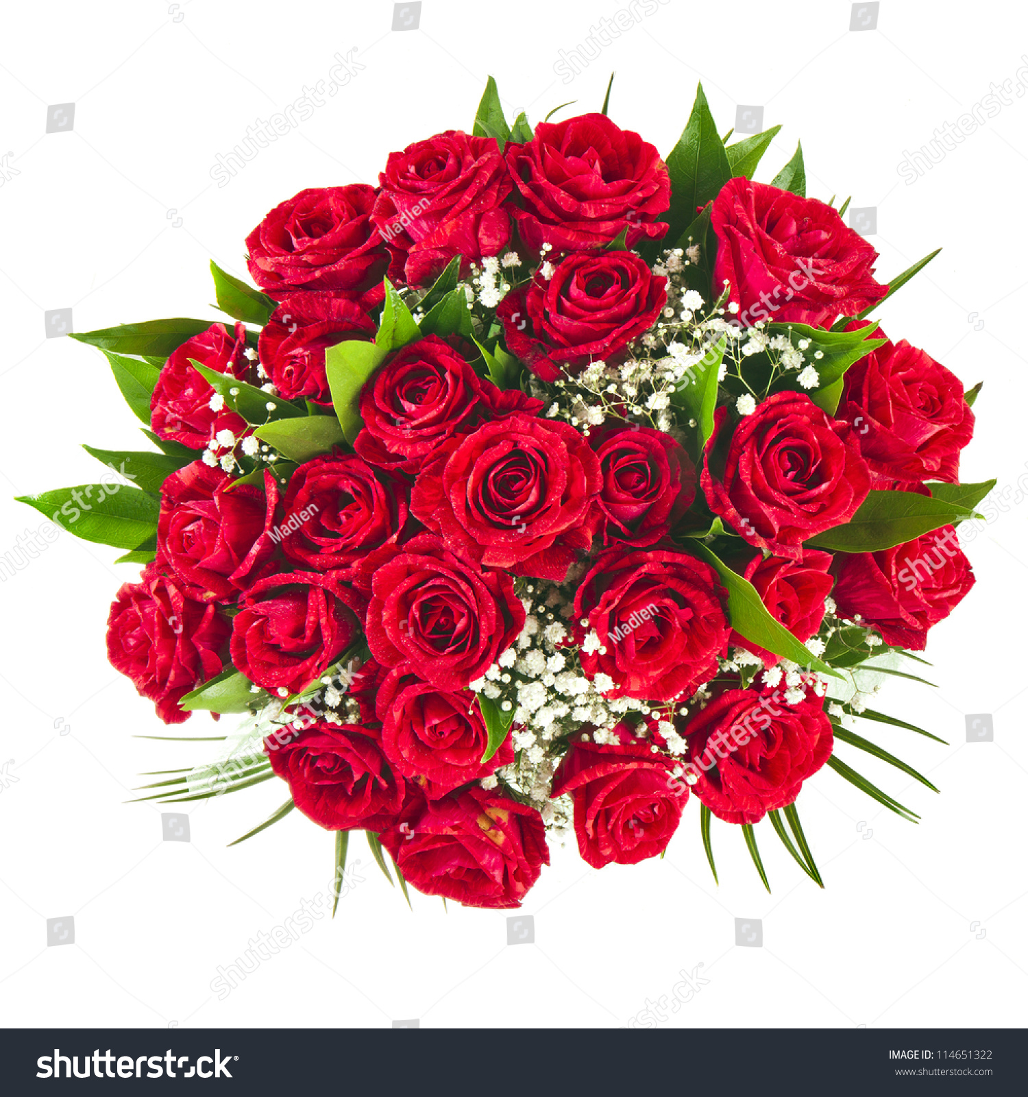 Big Bunch Bouquet Red Roses Isolated Stock Photo Edit Now