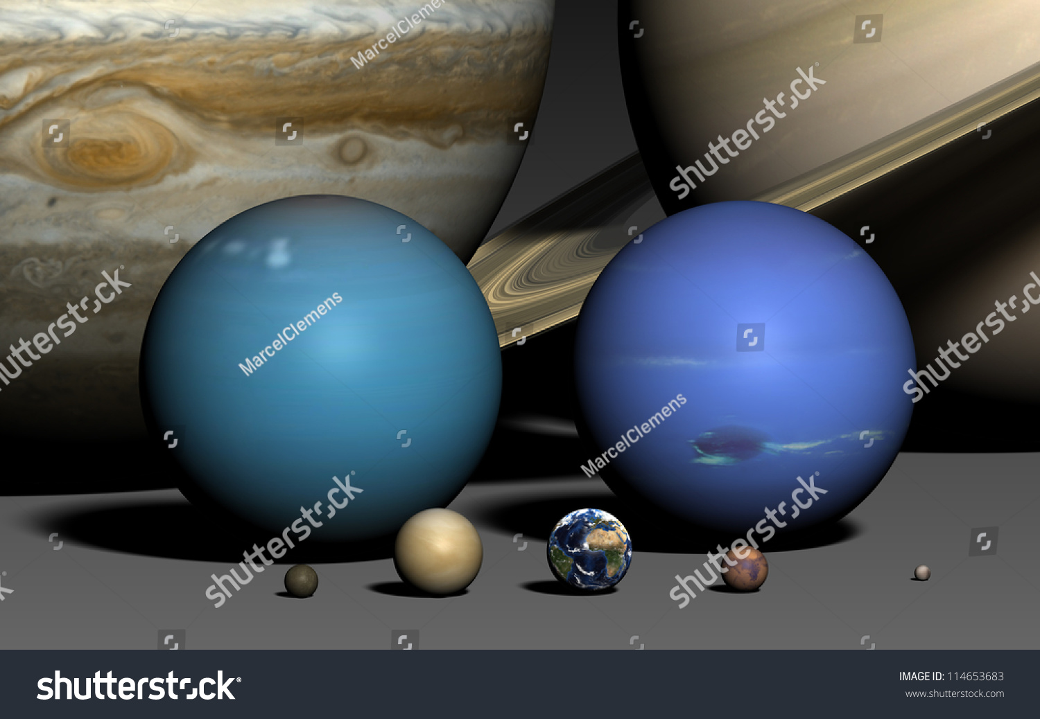 planets relative size food - photo #13
