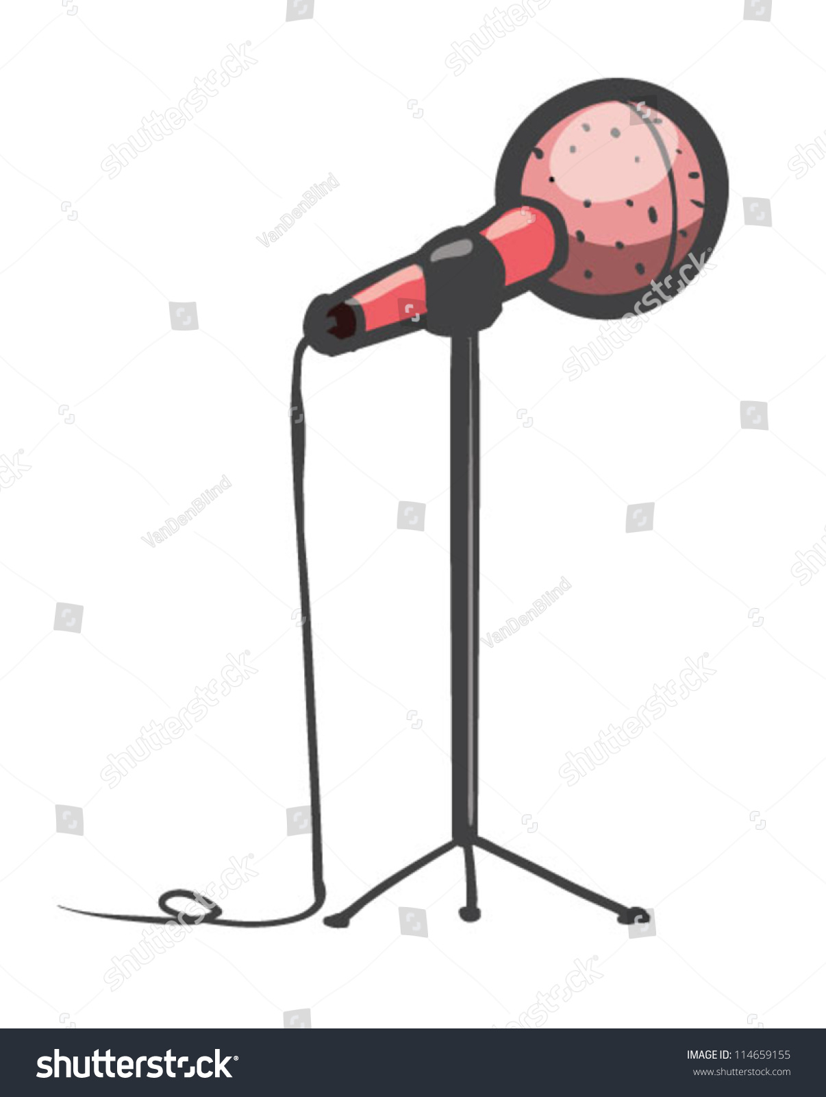 Microphone Cartoon Stock Vector 114659155
