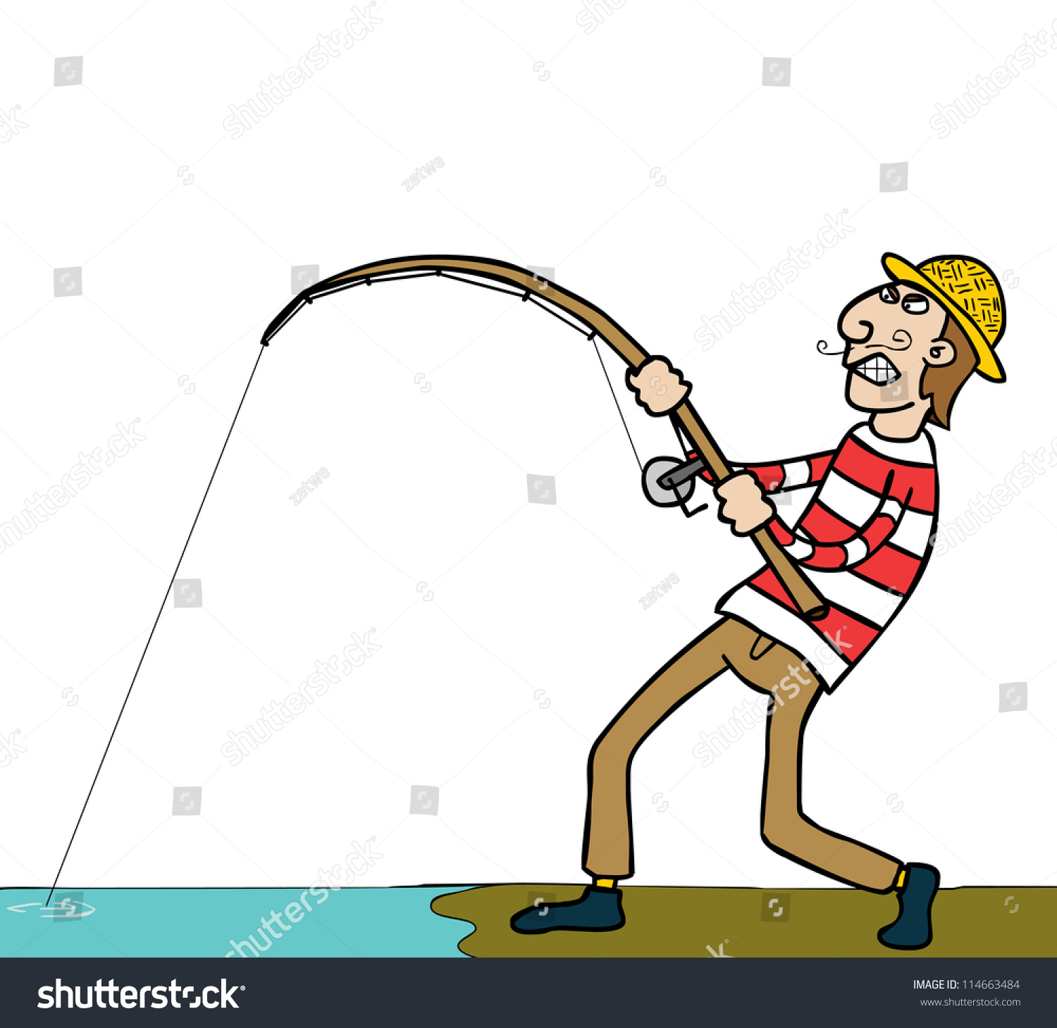 A fishing guy stock vector illustration 114663484 for Where can i buy a fishing license near me