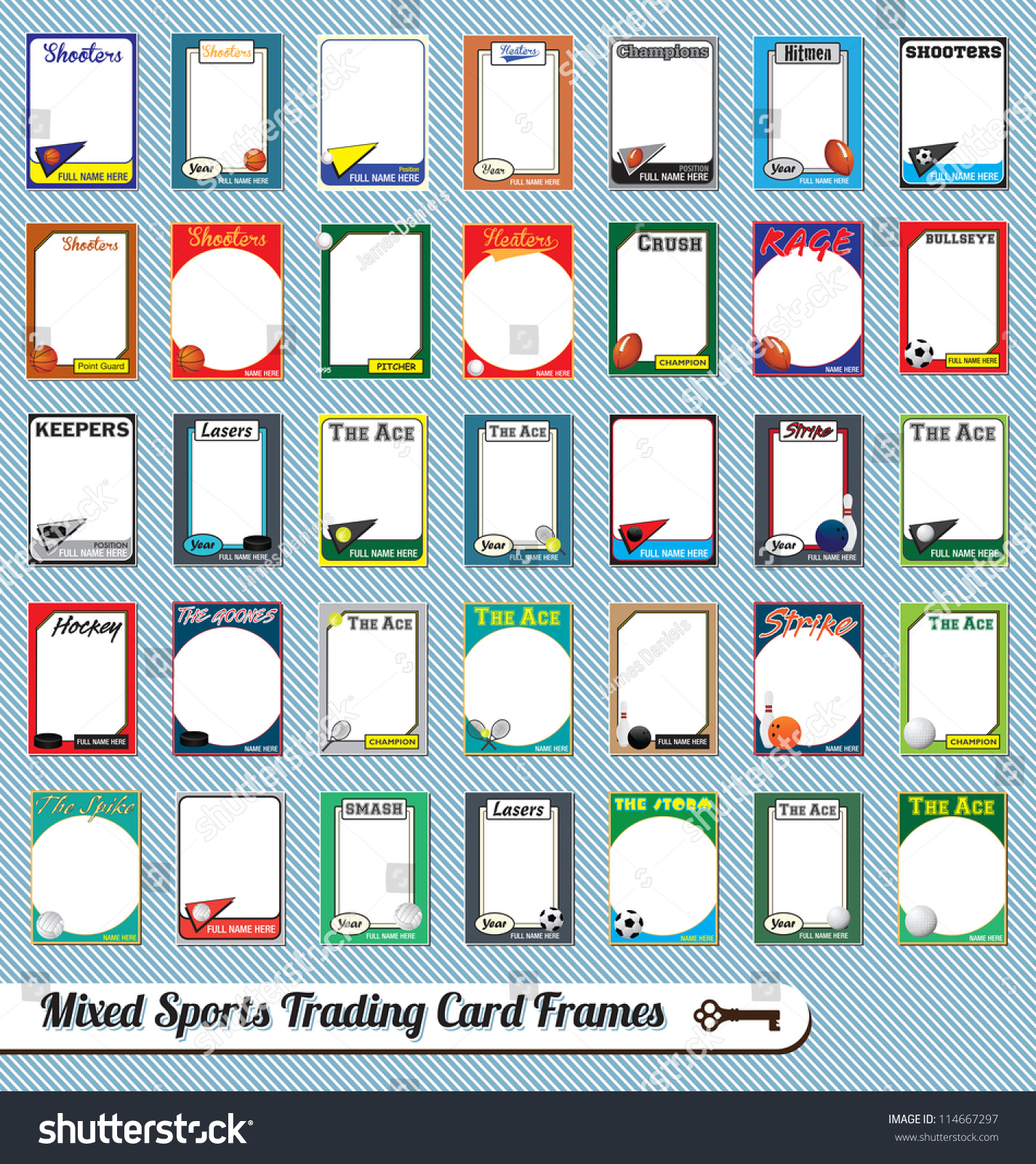 sports card template template