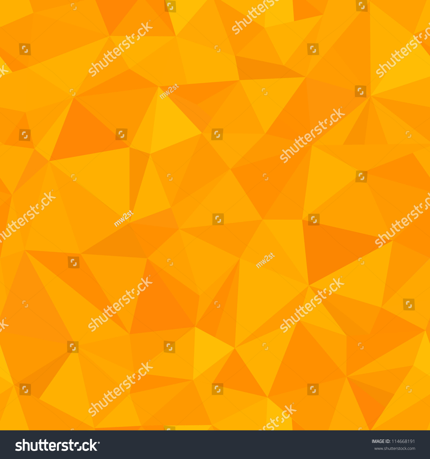 Seamless Orange Triangle Geometric Pattern Stock Photo