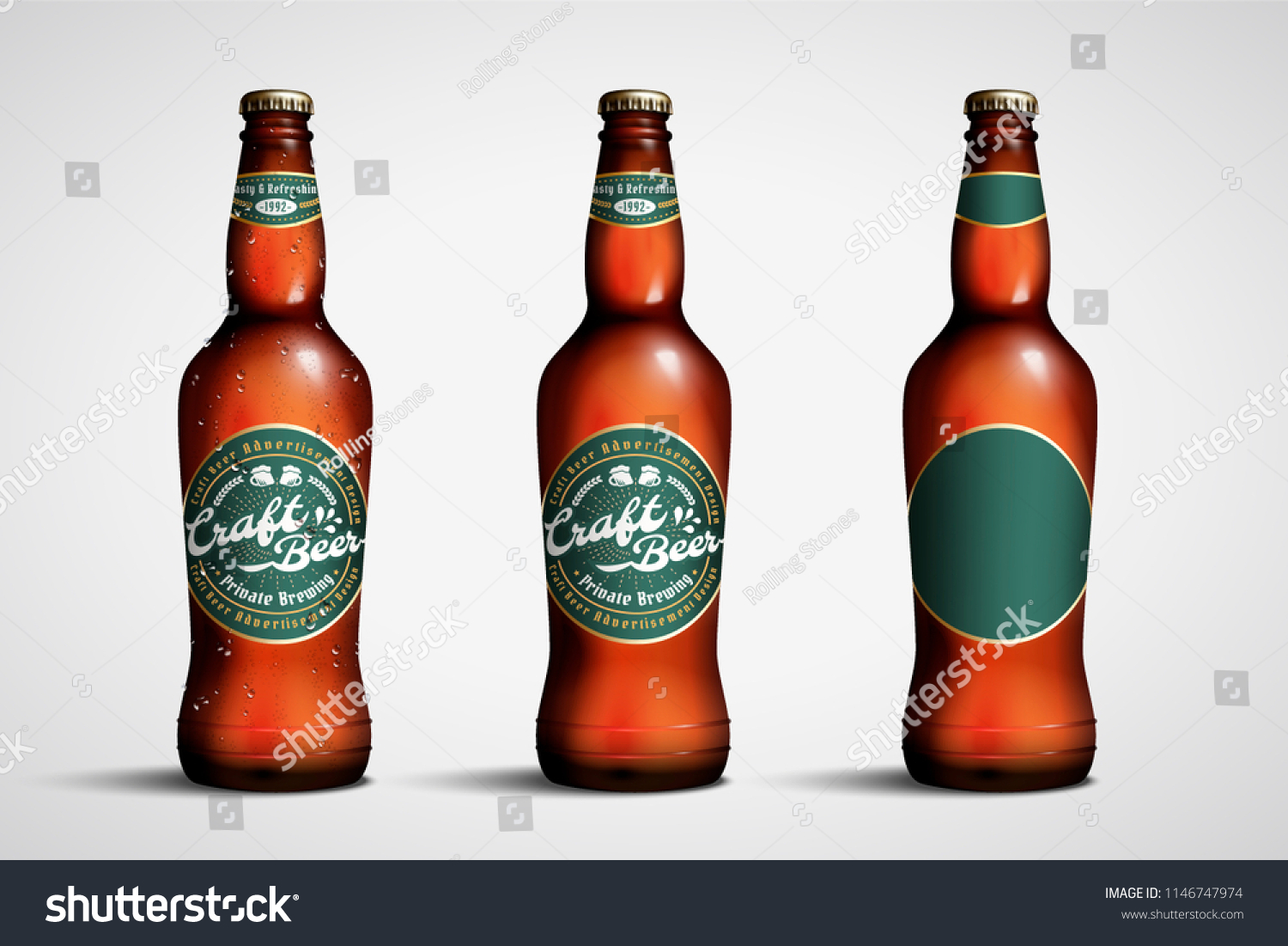 3 D Illustration Craft Beer Package Design Stock Vector Royalty