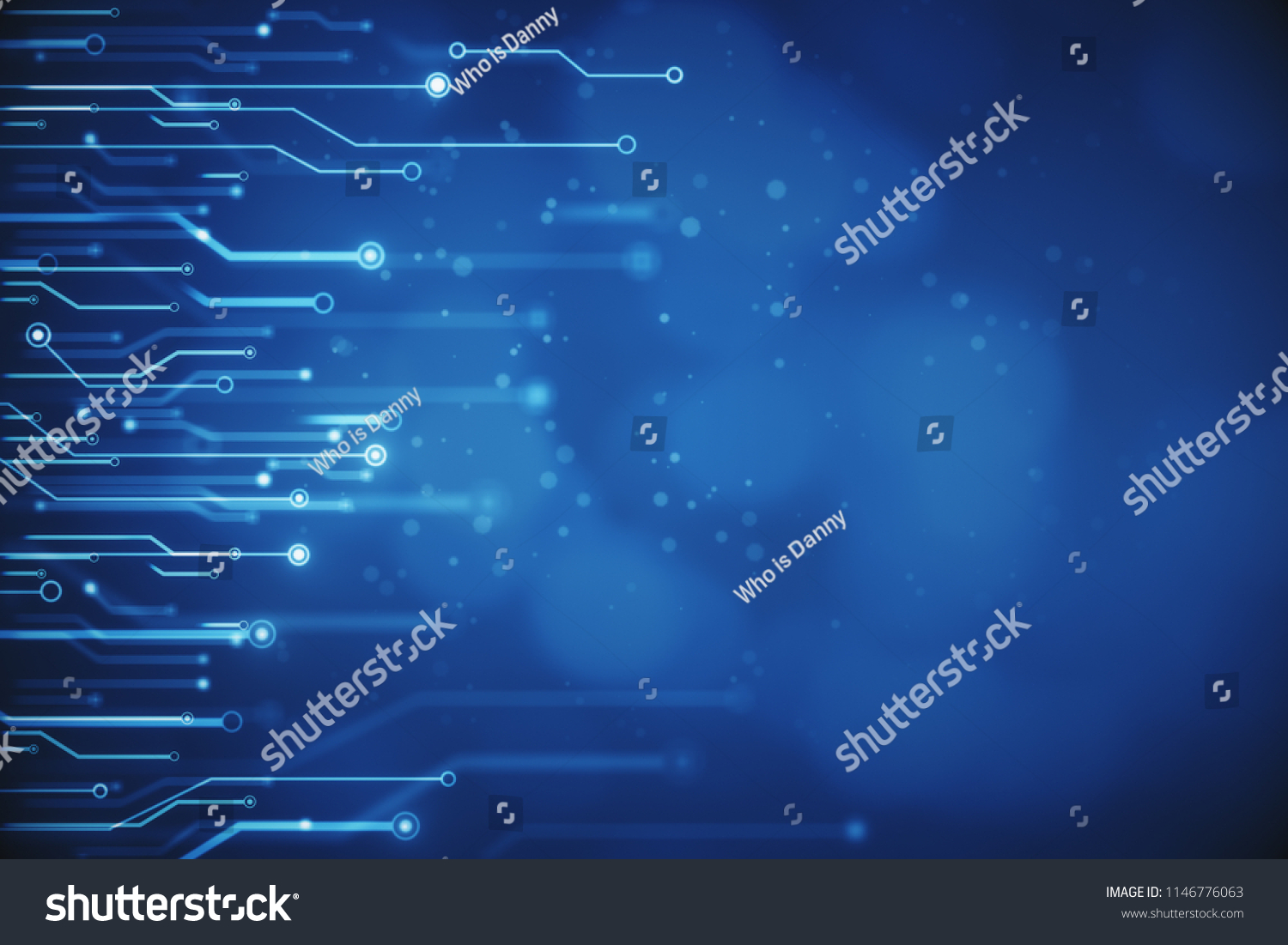 Creative Blurry Blue Circuit Wallpaper Technology Stock Illustration Series 3d Animated Model Parallel And Computing Concept Rendering