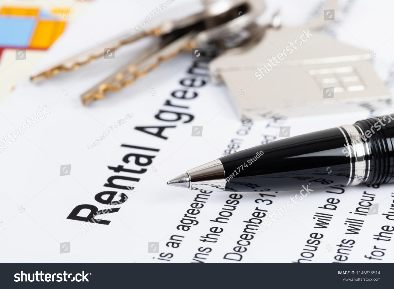 Rental Agreement Paperwork Document Mockup Stock Photo Royalty Free