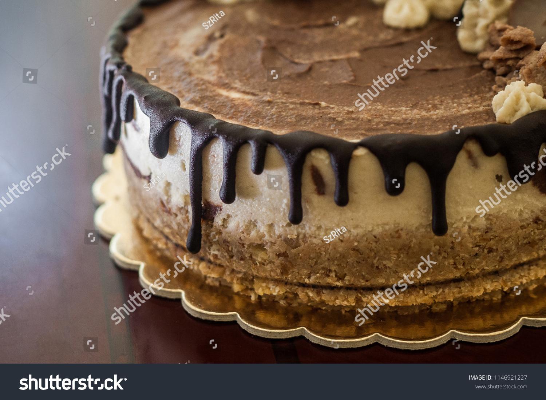 Awesome Raw Vegan Chocoltevanilla Marble Cake Stock Photo Edit Now Funny Birthday Cards Online Elaedamsfinfo