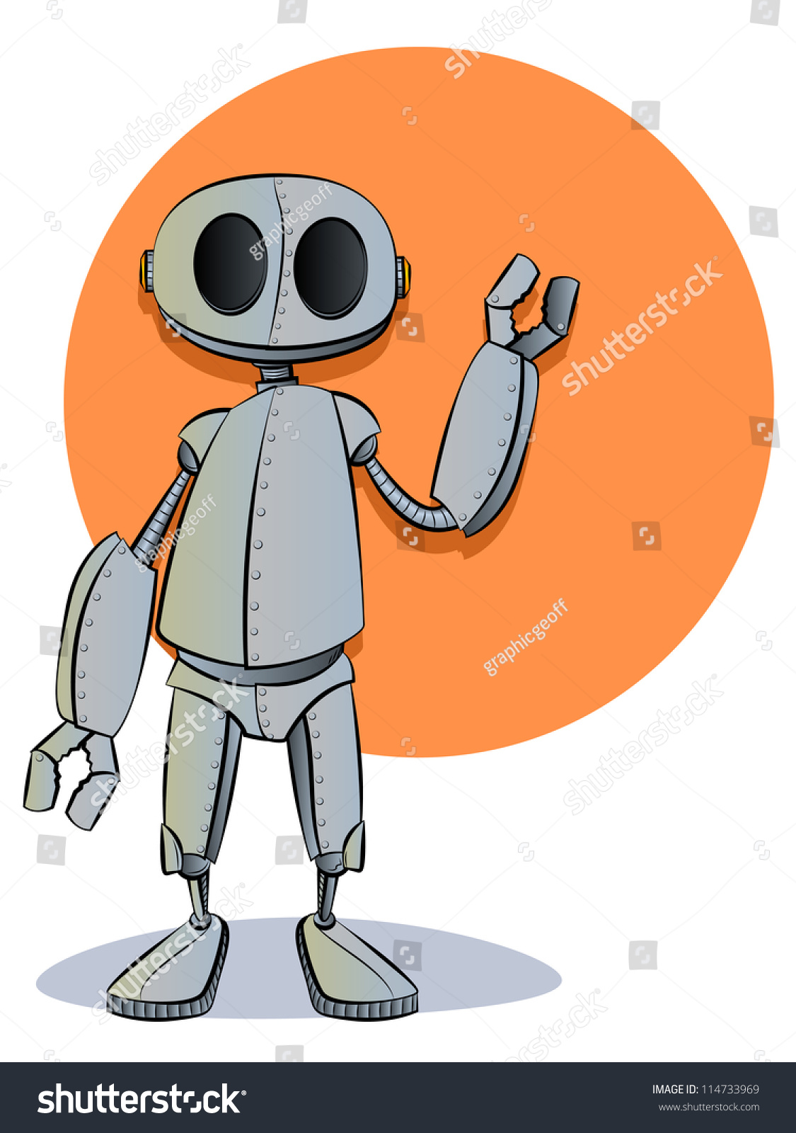 Robotics robot cartoon character mascot stock photo