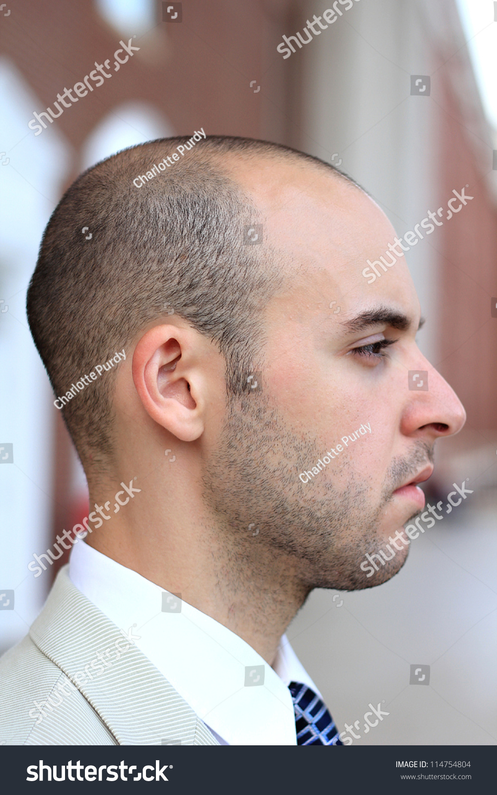 Side profile of man