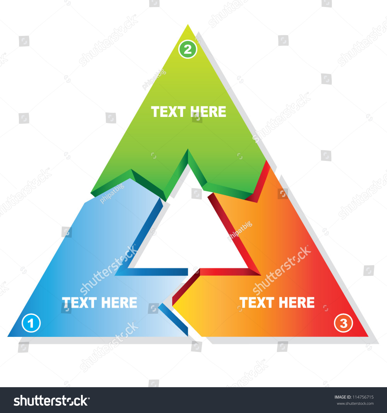 triangle diagram stock vector illustration 114756715 shutterstock : triangle diagram - findchart.co