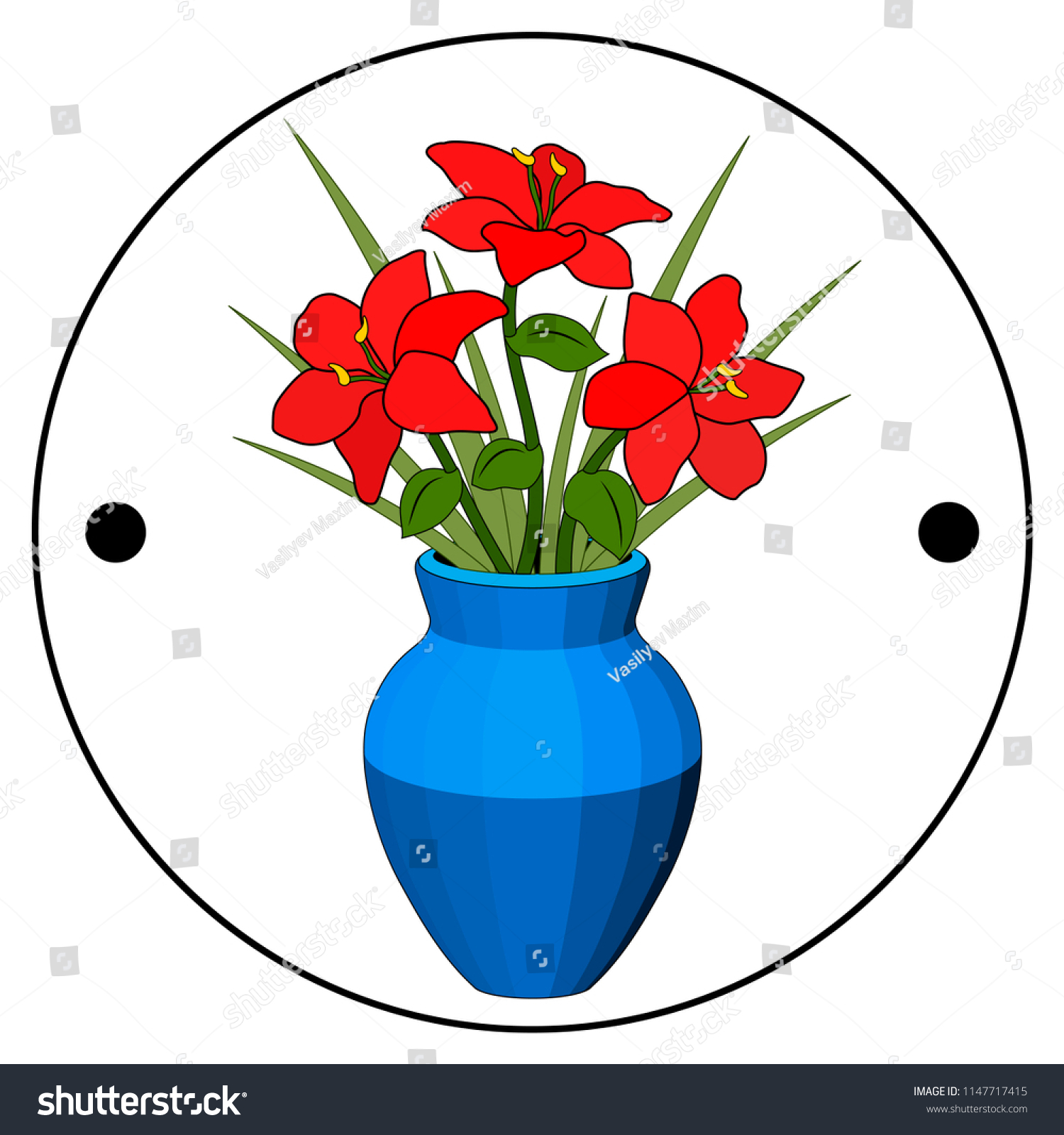 Thaumatrope old animated optical toy 19th stock vector royalty free thaumatrope old animated optical toy of the 19th century taumatrop bouquet in vase izmirmasajfo