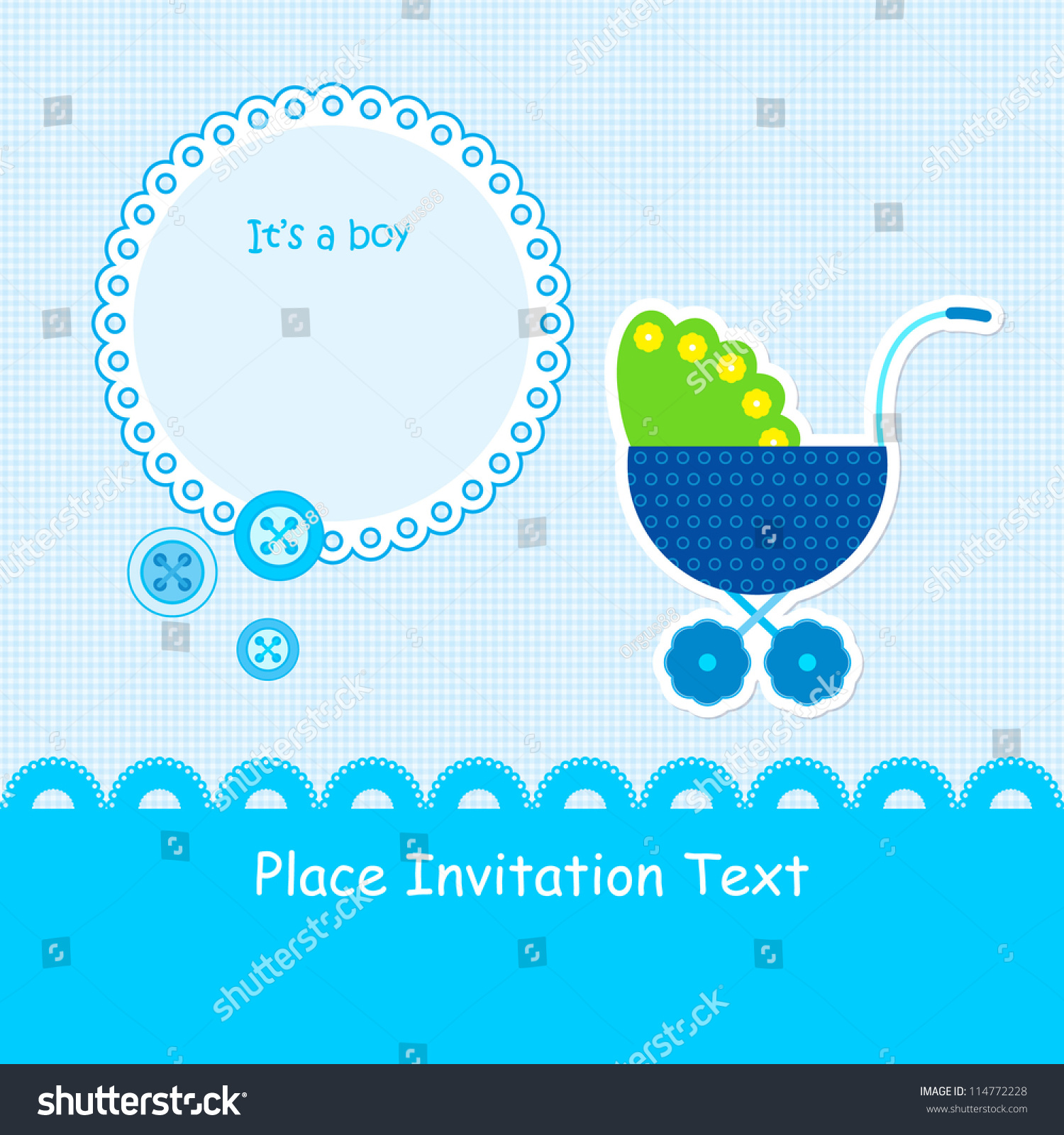 Baby boy arrival card vector by leonart image 600444 vectorstock - Baby Arrival Announcement Card Baby Boy Shower Card Wallpaper Gallery Baby Boy Shower Card