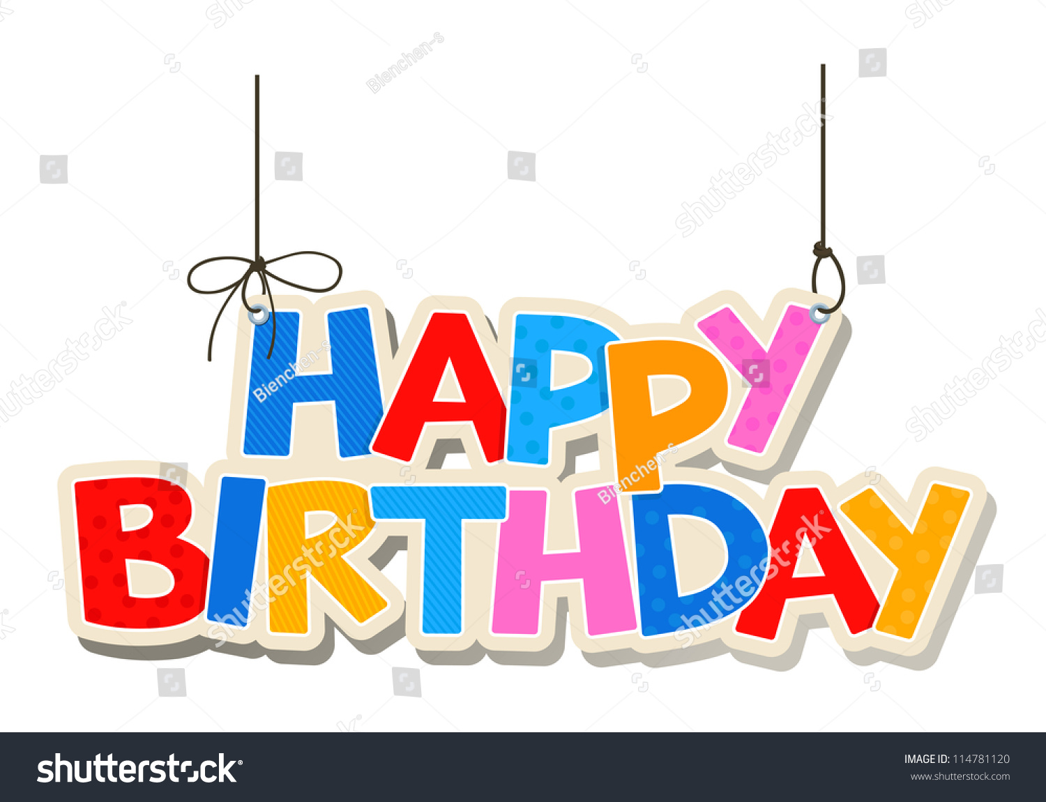 Happy Birthday Greetings Vector 114781120 Shutterstock – Images Birthday Greetings