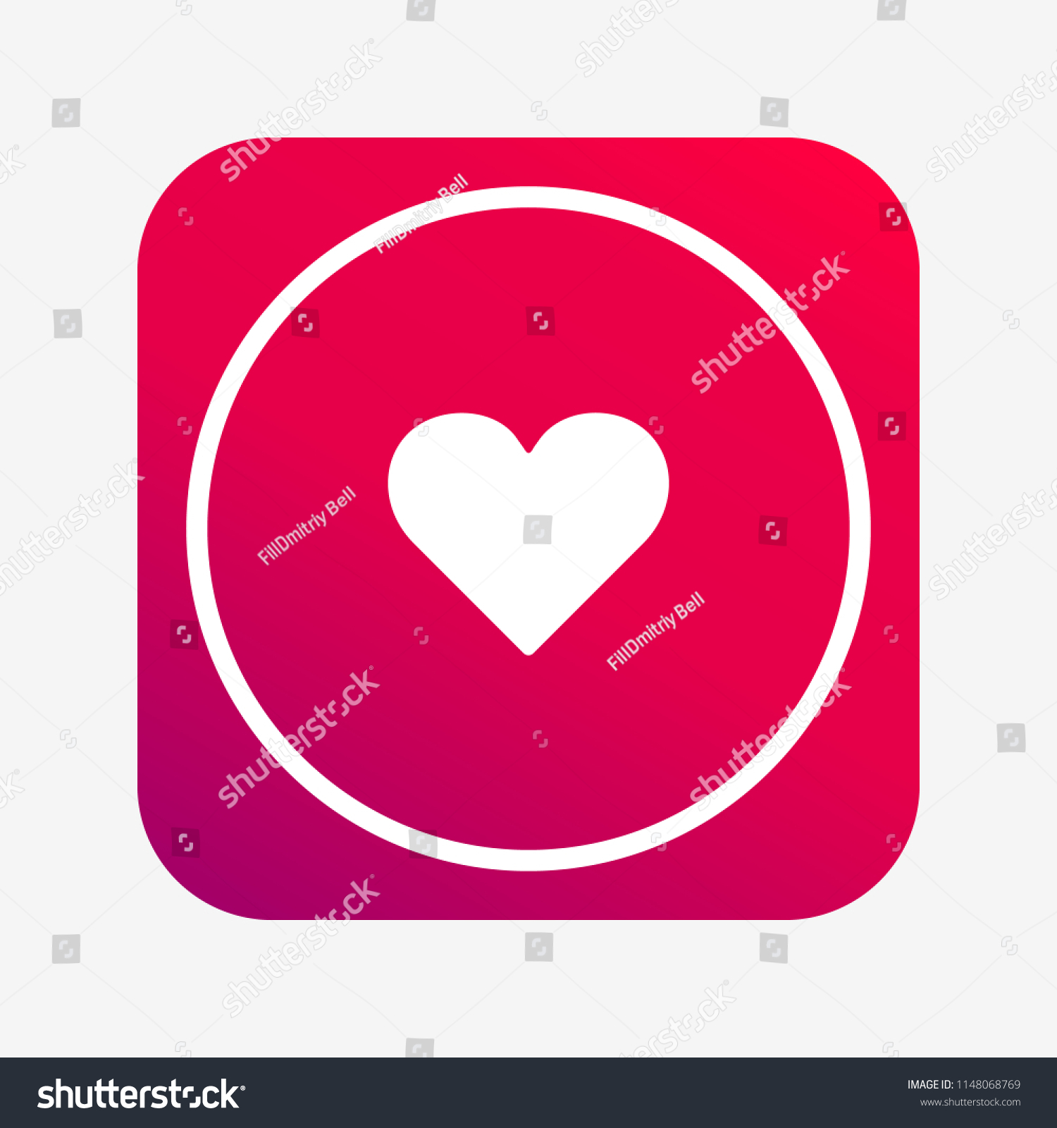 Facebook Like Love Button App Web Stock Vector Royalty Free