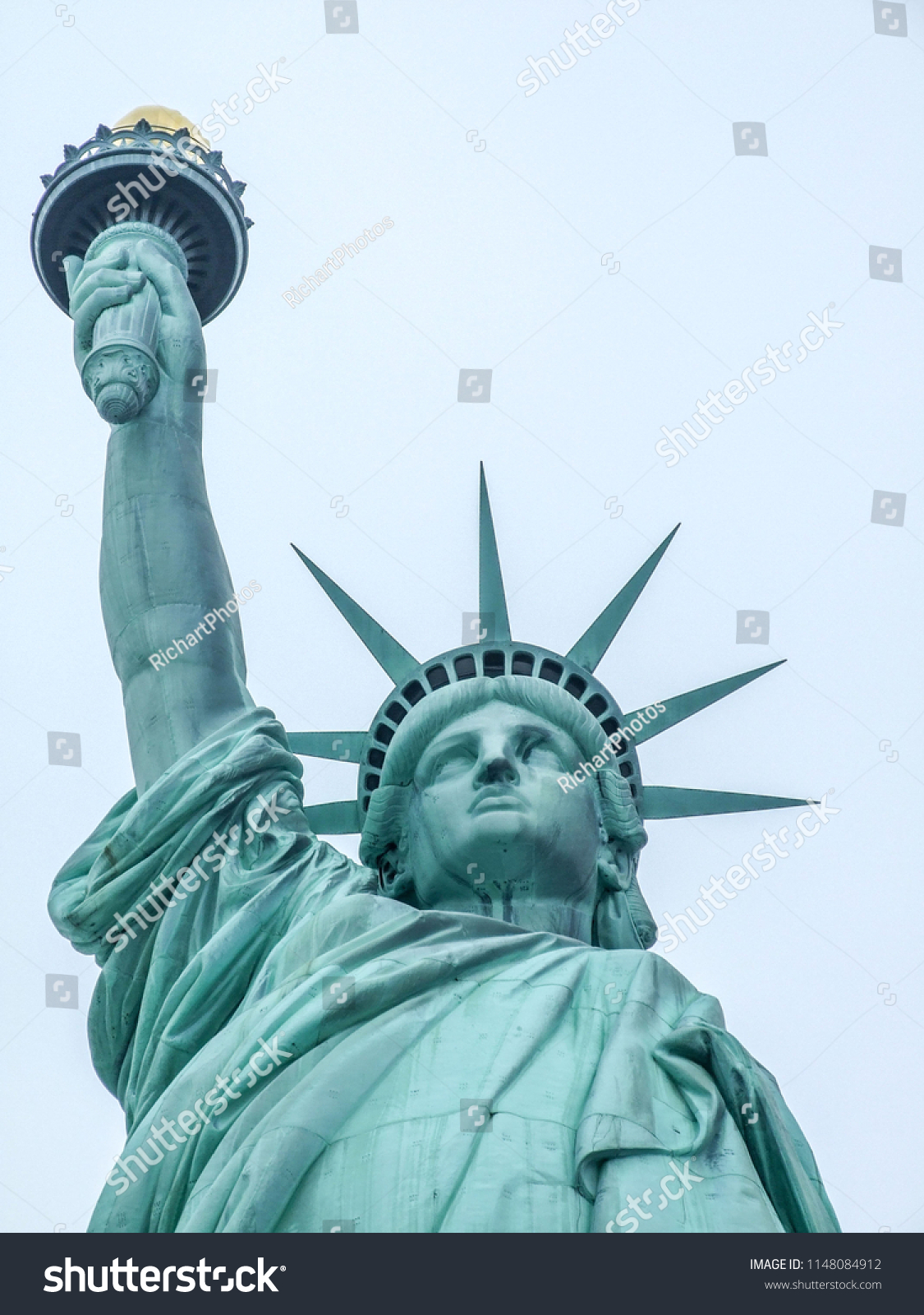 37cd5f63b6ee6 Statue Liberty Close Body Face Arm Stock Photo (Edit Now) 1148084912