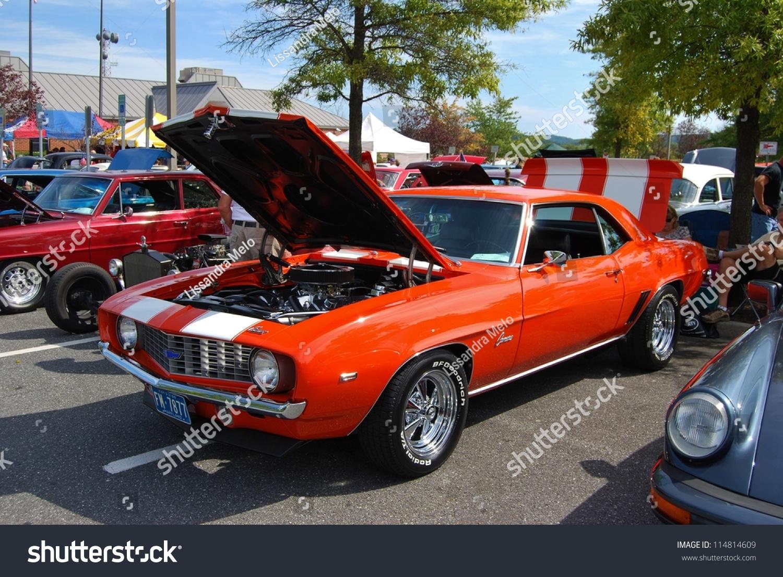Frederick Md September 16 1969 Orange Chevrolet Camaro On September 16 2012 In Frederick