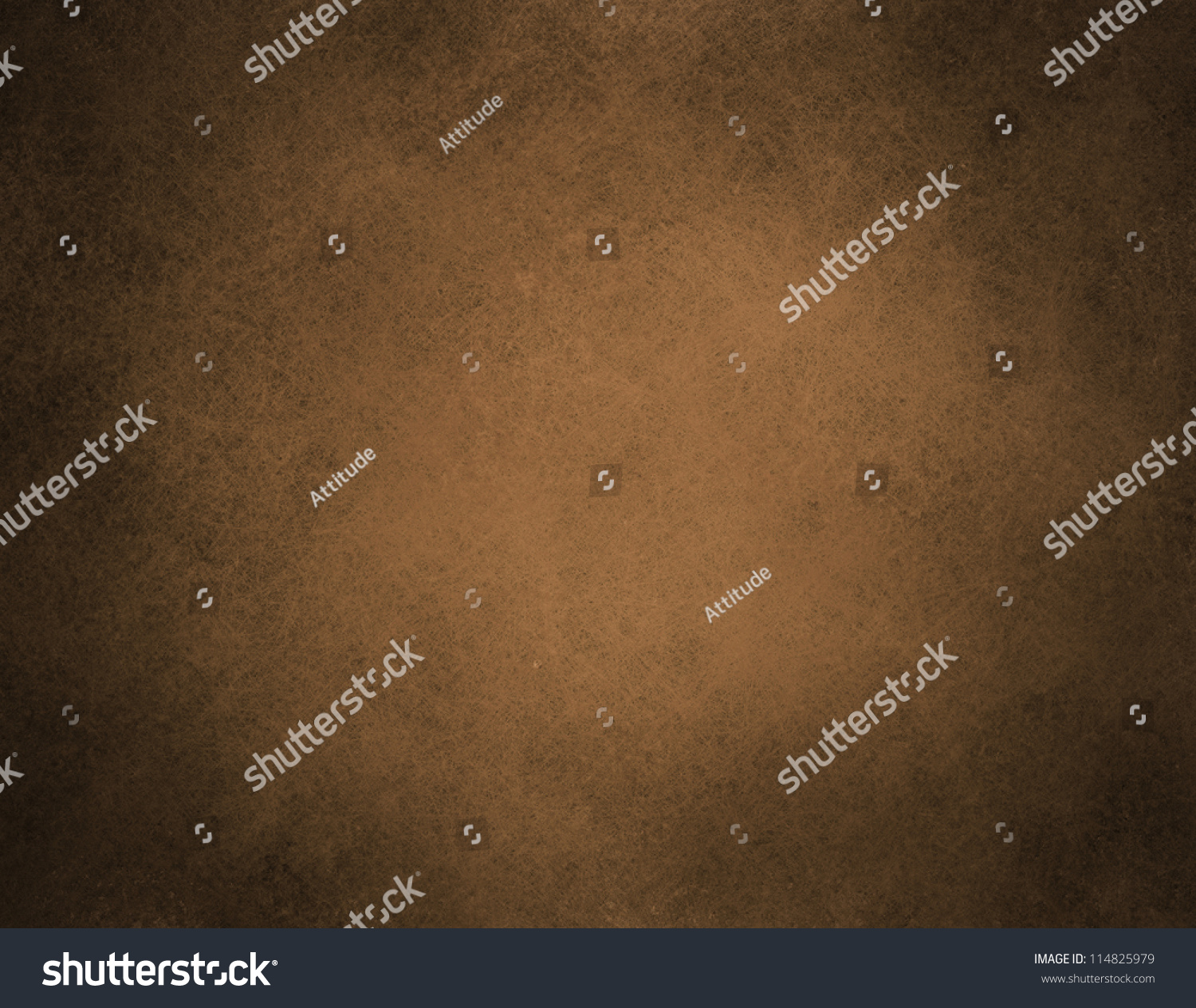 Abstract Brown Background Or Brown Paper With Warm Center