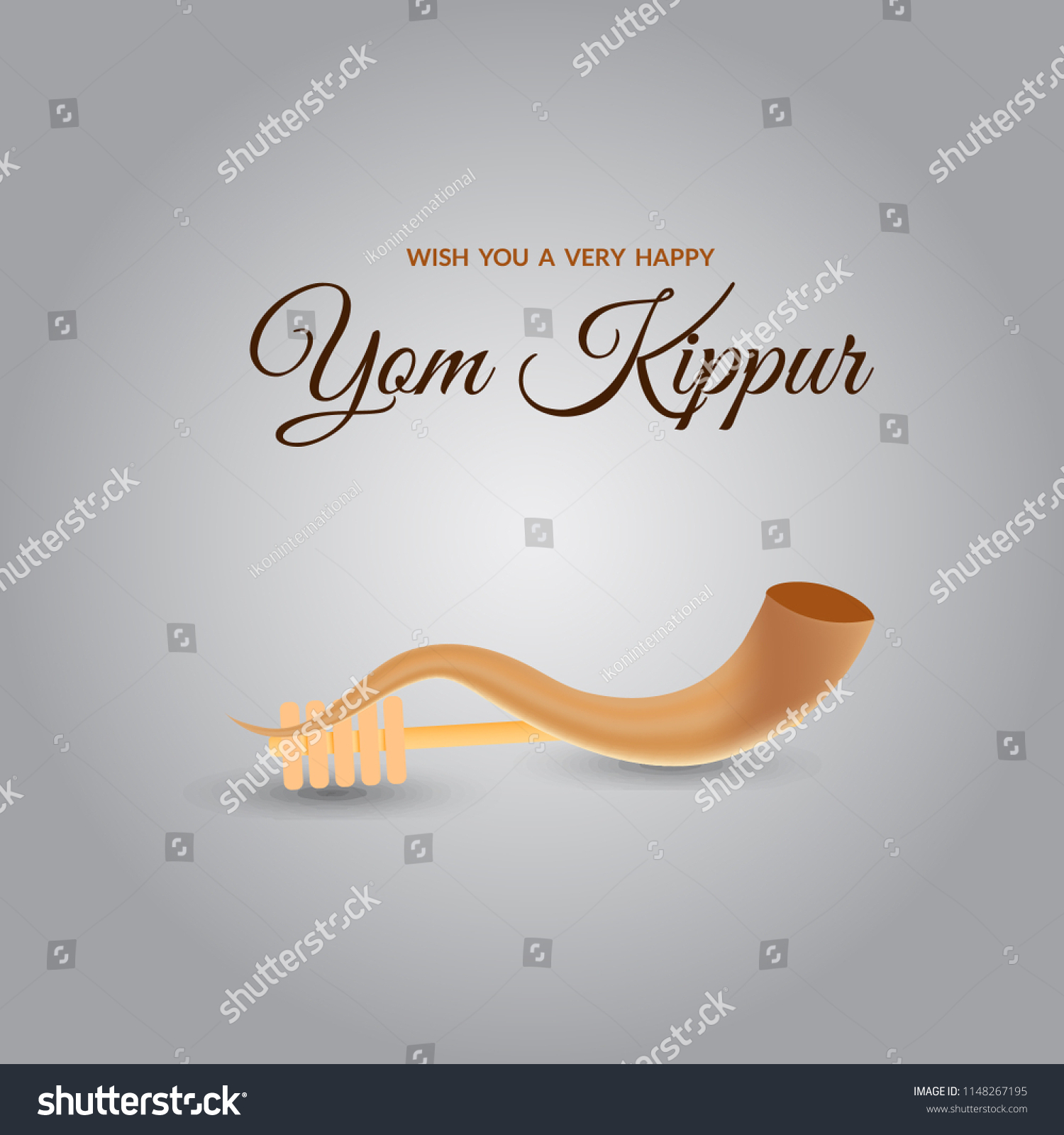 Yom Kippur Greeting Card Template Design Stock Vector Royalty Free
