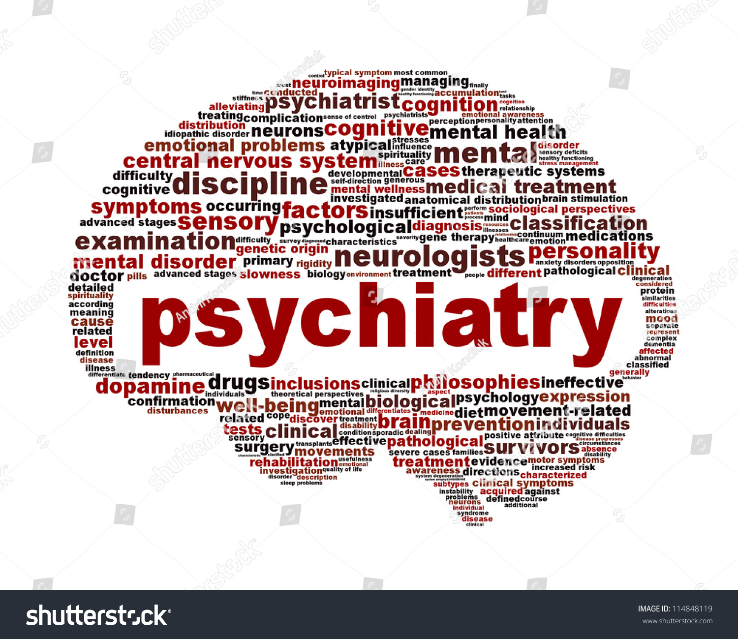 Psychiatry Medical Symbol Isolated On White Stock Illustration