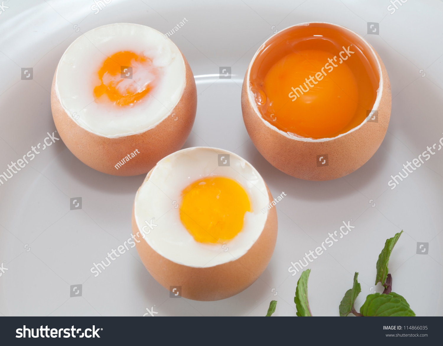 Raw Egg Soft Boiled Egg Boiled Stock Photo 114866035 - Shutterstock