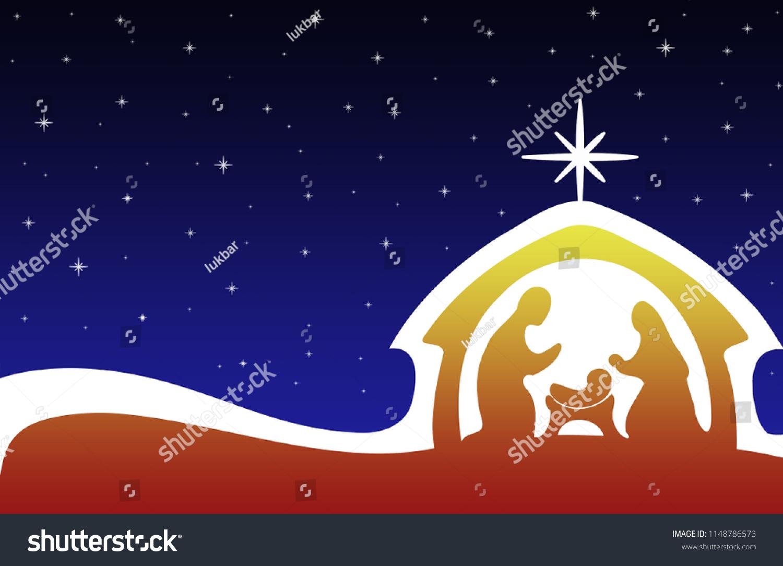Abstract Christmas Nativity Background Stock Illustration Royalty