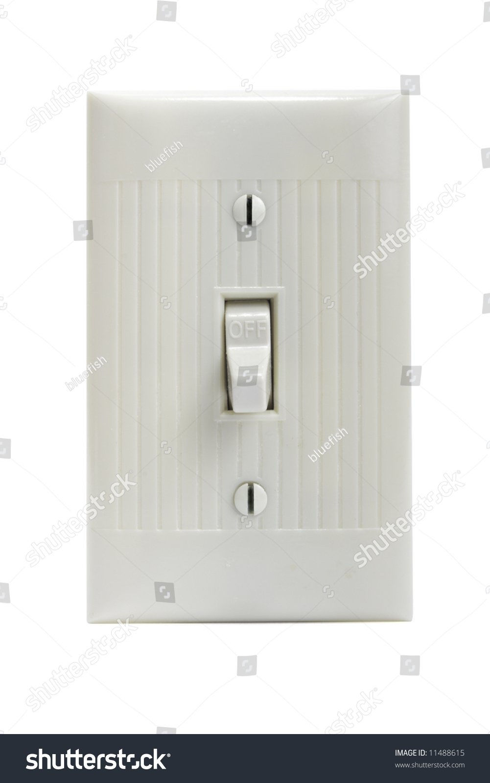 Cllipping Path Common Household Light Switch Stock Photo (Royalty ...