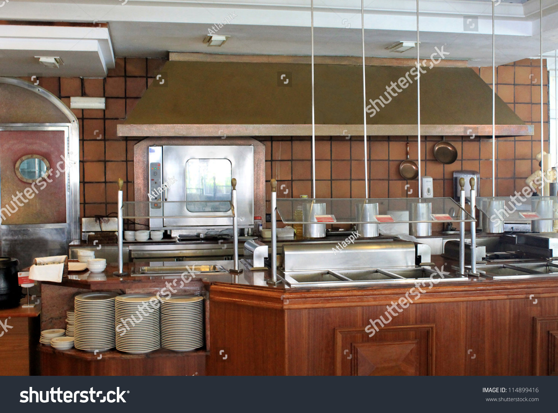 Modern Commercial Kitchen Hotel Restaurant Business Stock ...