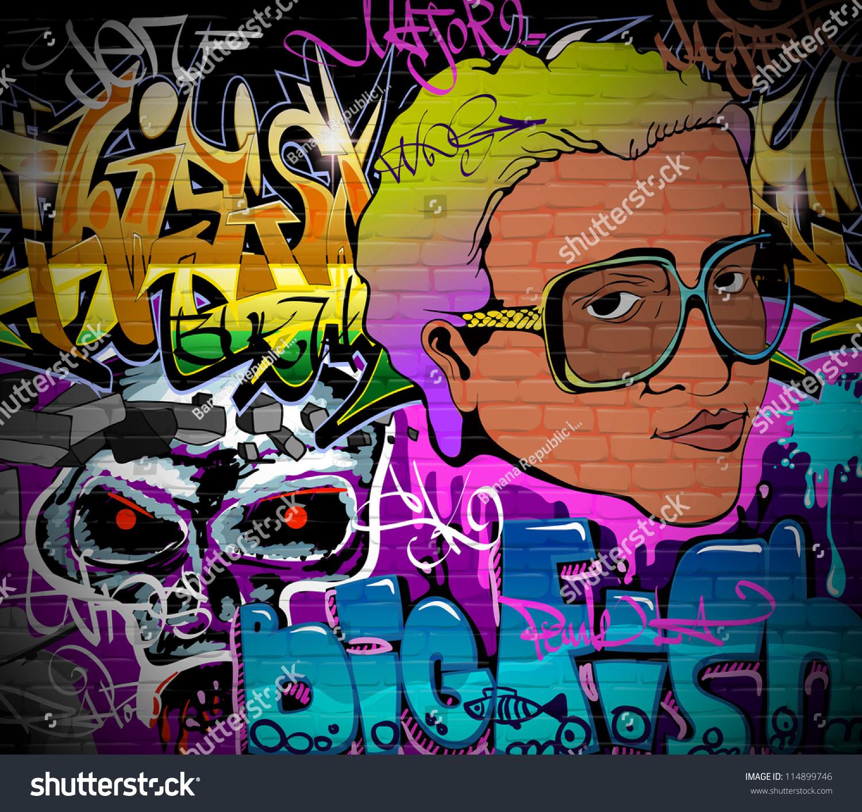 Graffiti wall vector free - Graffiti Wall Urban Art Background Grunge Hip Hop Artistic Design