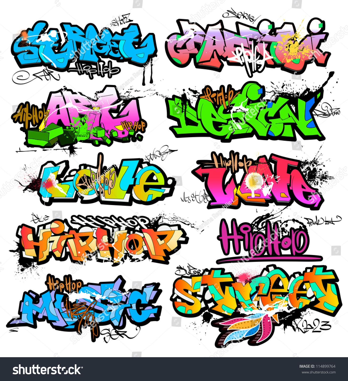 Graffiti wall clipart - Graffiti Wall Vector Urban Art