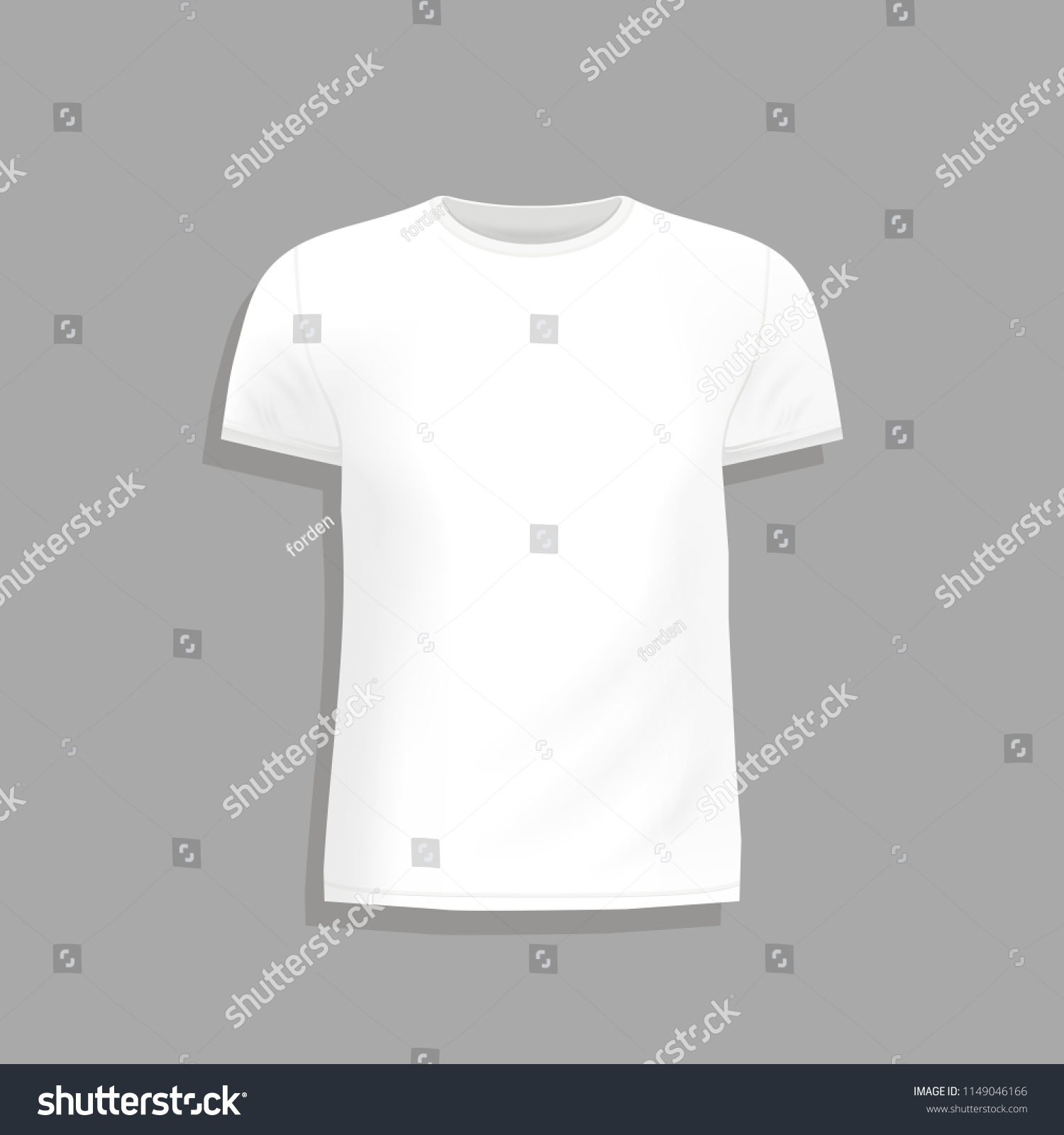 Mens T Shirt Design Template On Gray Background Mock Up Tshirt For