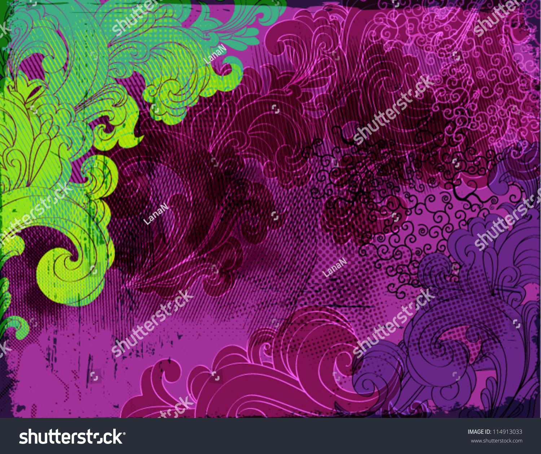 Download Wallpaper Halloween Purple - stock-vector-halloween-background-grungy-purple-black-and-green-swirls-as-a-funky-halloween-wallpaper-or-114913033  HD_913081.jpg