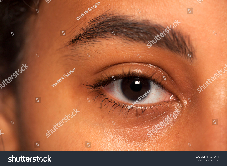 Natural Eyebrow Eye Without Makeup Dark Stock Photo Royalty Free