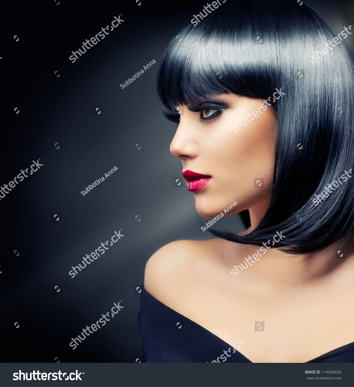 Are Beautiful girl with black hair long time