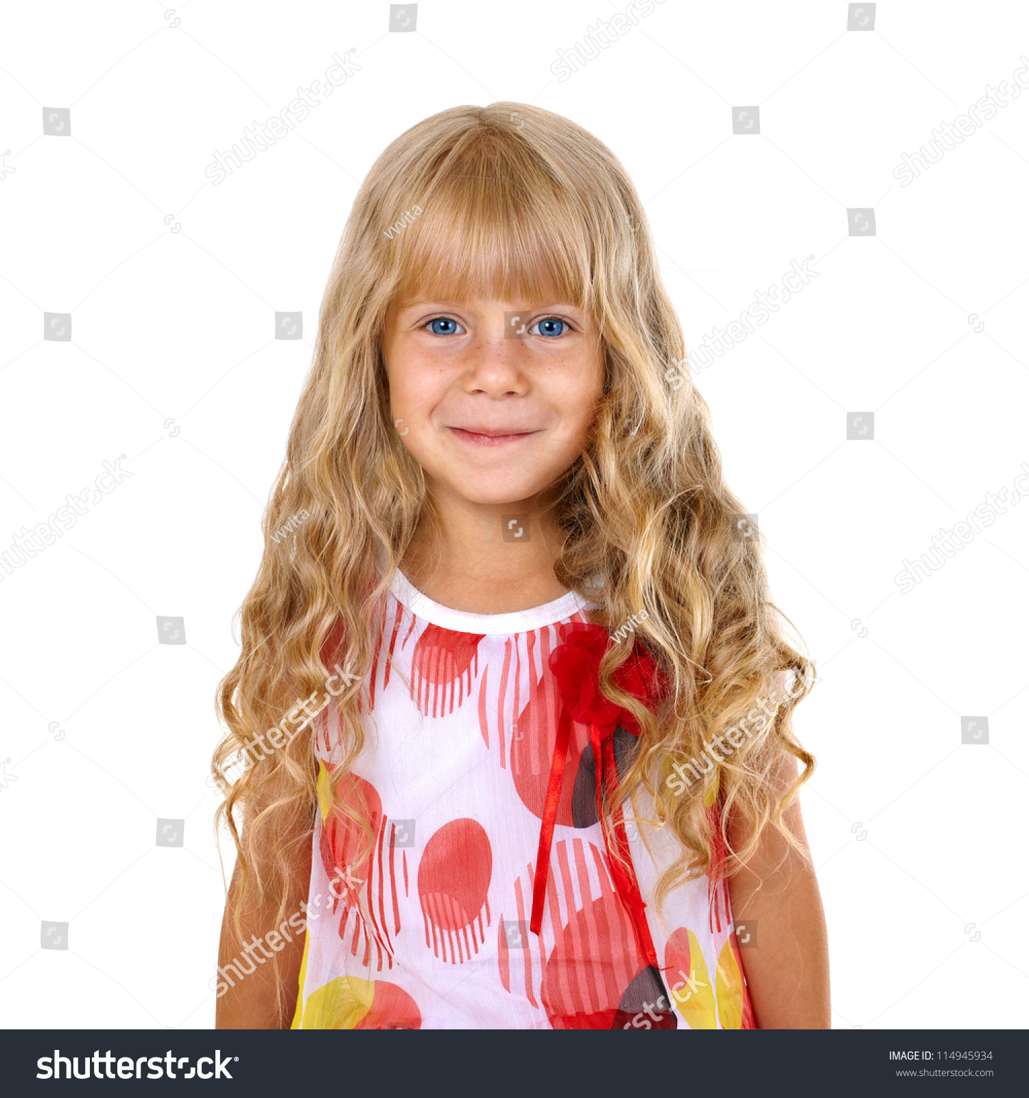 blonde little girl Beautiful little girl with long blonde hair
