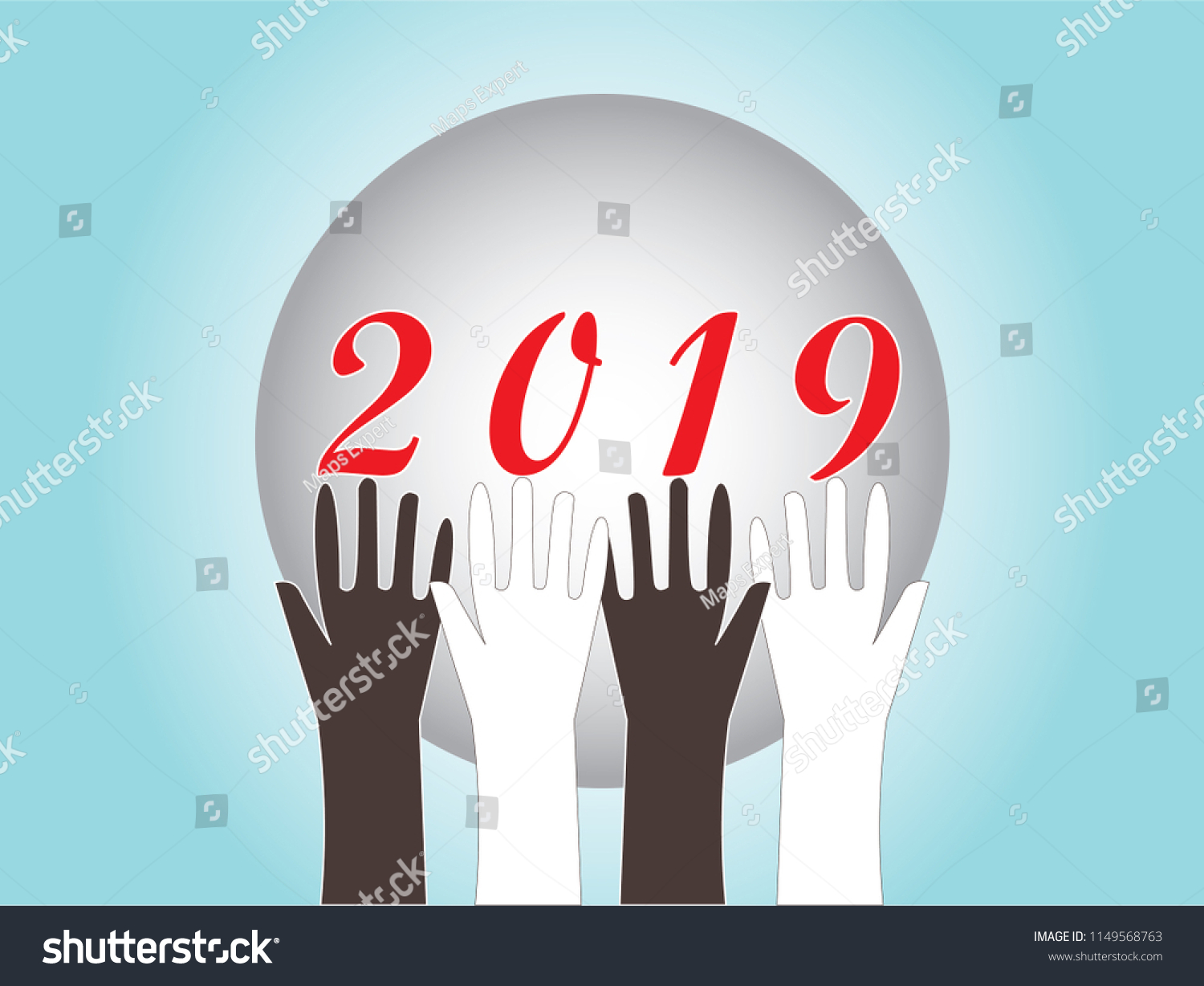 happy new year 2019 wallpaper clip art image abstract vector illustration background with concepts of love
