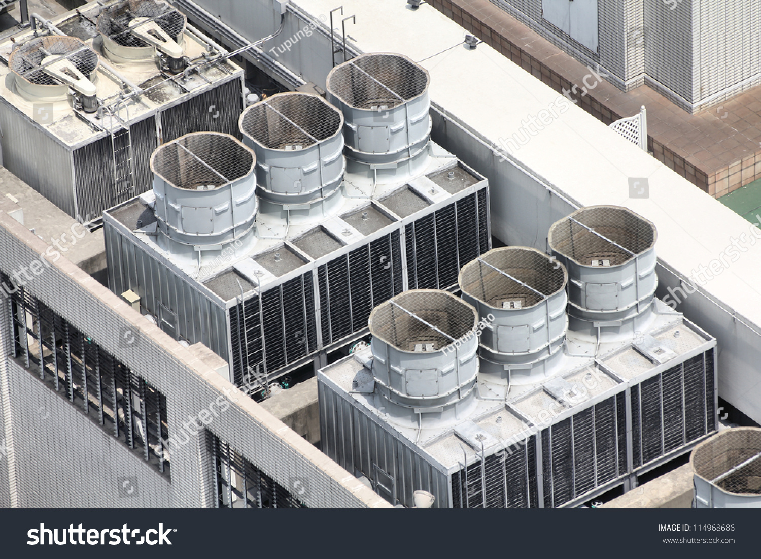Exhaust vents of industrial air conditioning and ventilation units  #756356