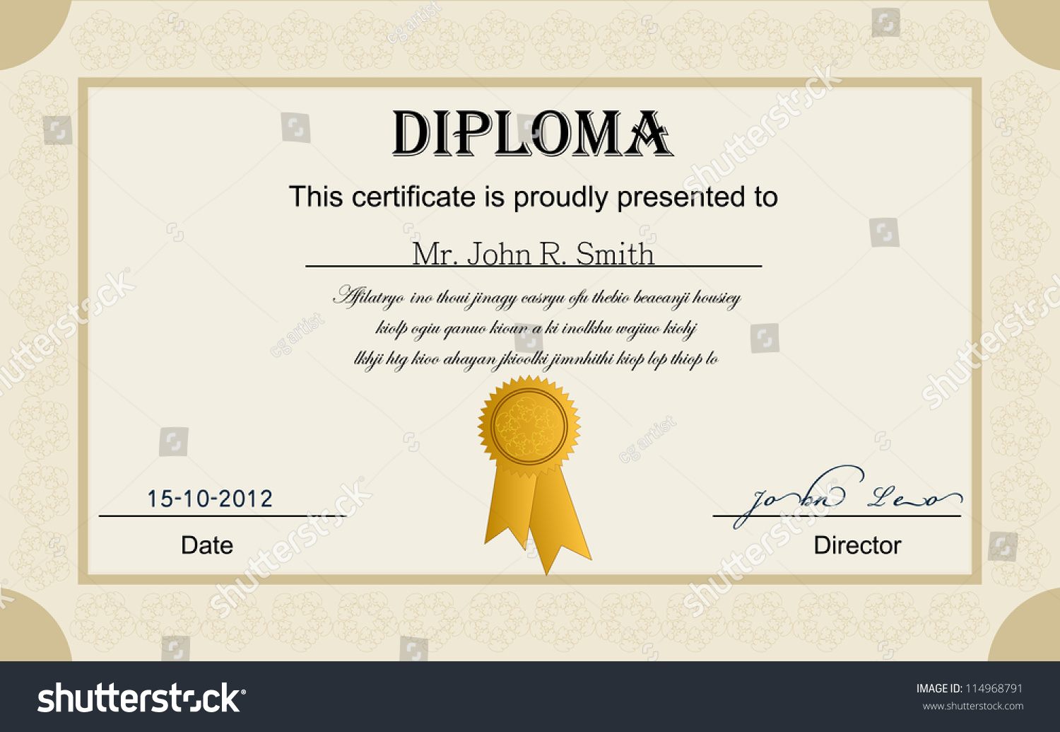Appealing award certificate vector images