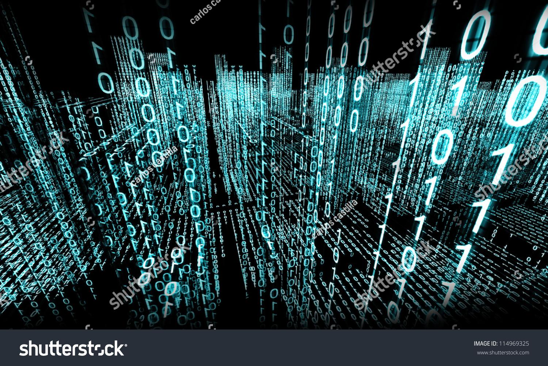 abstract 3d backgroundbinary language stock illustration