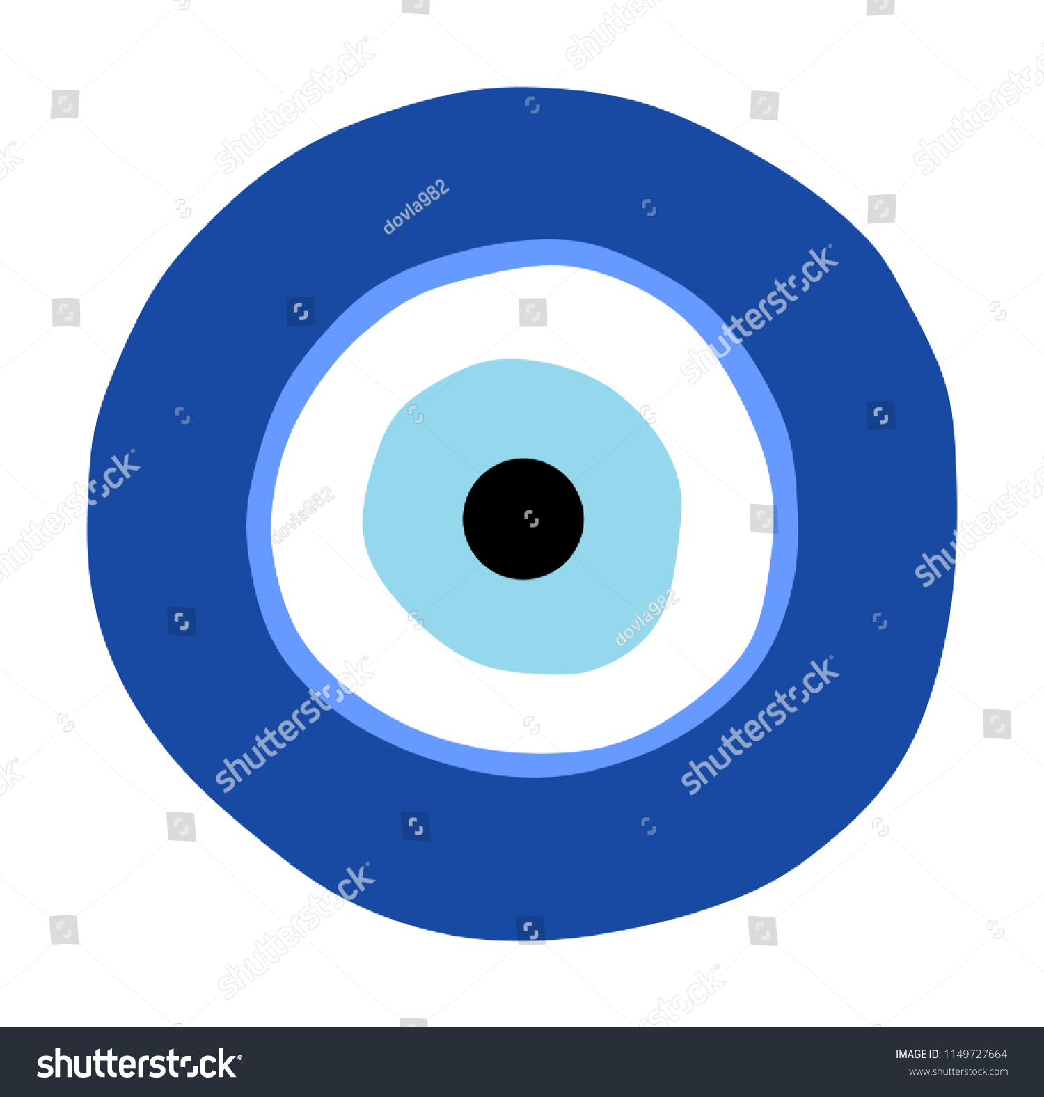 Greek Evil Eye Vector Symbol Protection Stock Vector Royalty Free